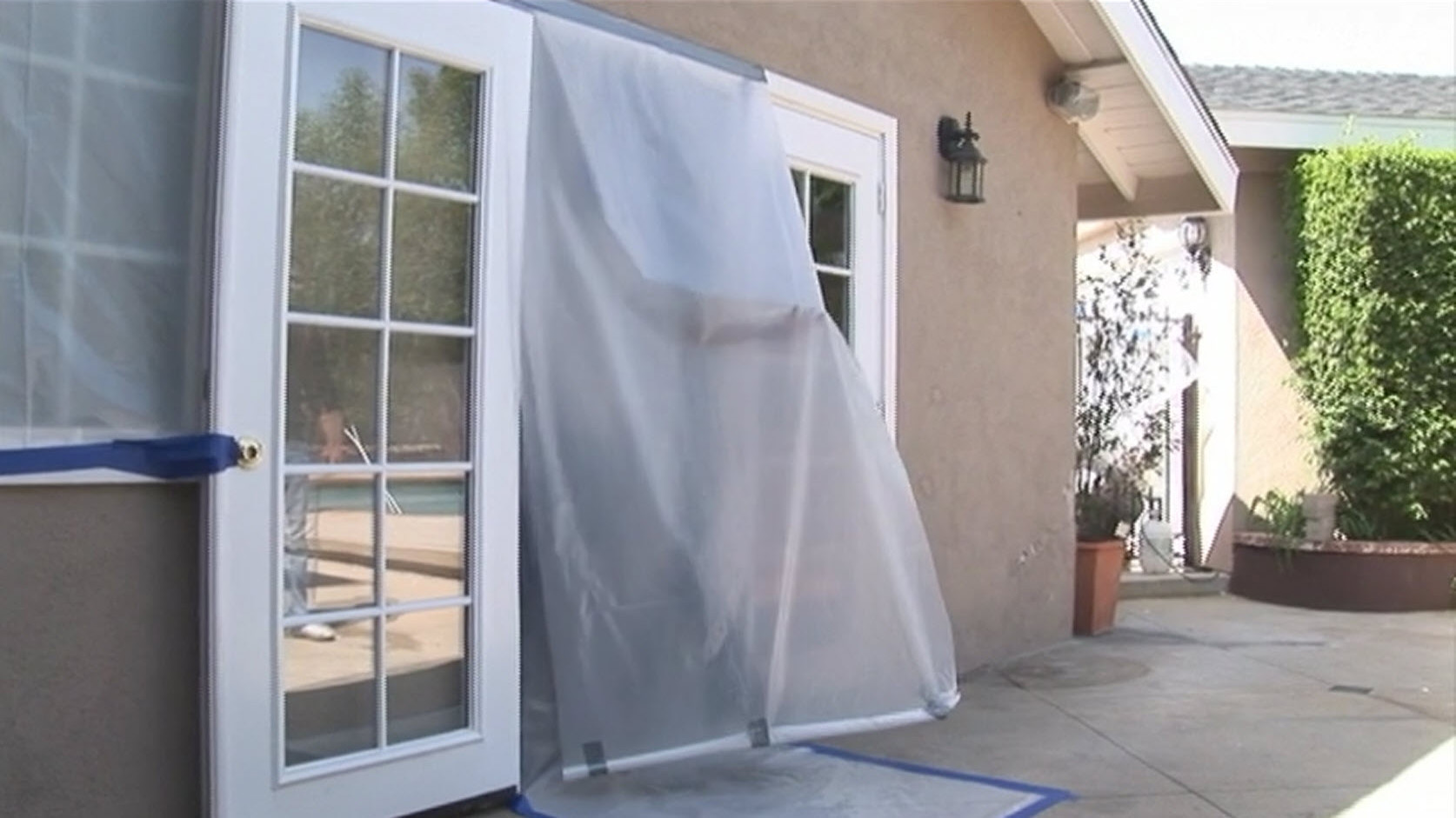 Covering doors for access